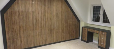 Luxe Makassar And Anthracite Fitted Wardrobe For Sloping Ceilings